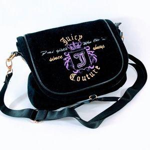 Beautiful Juicy Couture Velvet Shoulder Bag Black